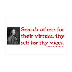 B. Franklin: Virtues™ 38.5 x 24.5 Wall Peel
