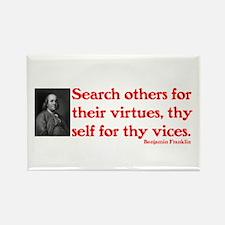 B. Franklin: Virtues™ Rectangle Magnet