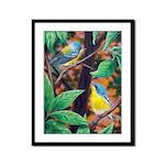 Parulla Birds Framed Panel Print