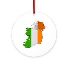 """Pixel Ireland"" Ornament (Round)"