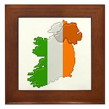"""Pixel Ireland"" Framed Tile"