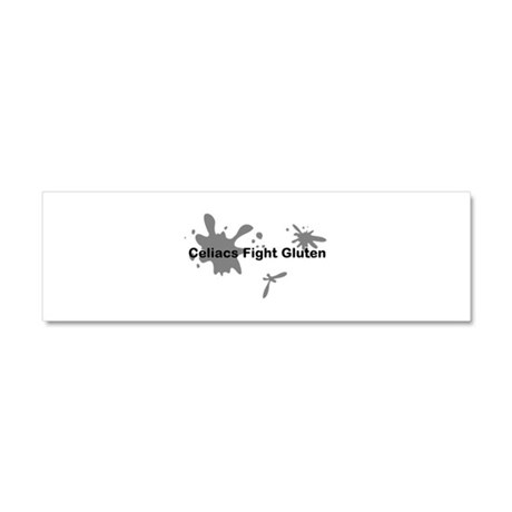 Celiacs Fight Gluten Car Magnet 10 x 3