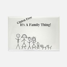 Gluten Free Family Thing Rectangle Magnet