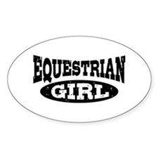 Equestrian Girl Decal