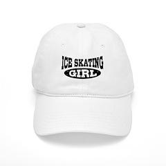 Ice Skating Girl Baseball Cap