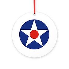 U.S. Star Ornament (Round)