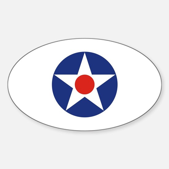 U.S. Star Sticker (Oval)
