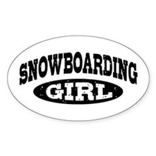 Snowboarding Girl Decal