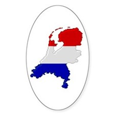 """""""Pixel Netherlands"""" Oval Decal"""