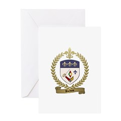 HUDON Family Crest Greeting Card