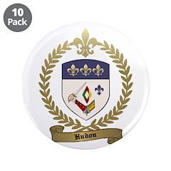 "HUDON Family Crest 3.5"" Button (10 pack)"