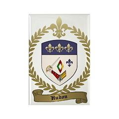 HUDON Family Crest Rectangle Magnet (100 pack)