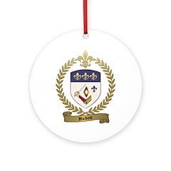 HUDON Family Crest Ornament (Round)