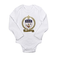 HUDON Family Crest Long Sleeve Infant Bodysuit