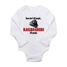 Railroaders Kill Long Sleeve Infant Bodysuit
