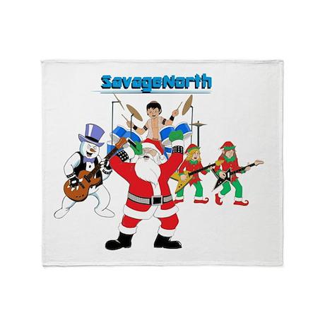 Heavy Metal Christmas Throw Blanket