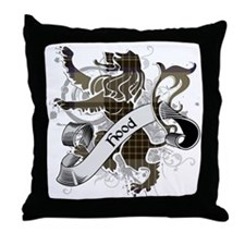 Hood Tartan Lion Throw Pillow