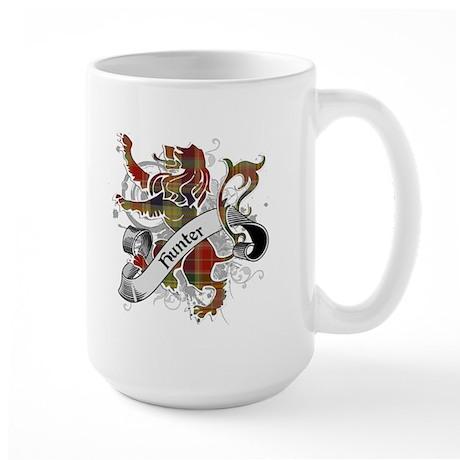 Hunter Tartan Lion Large Mug