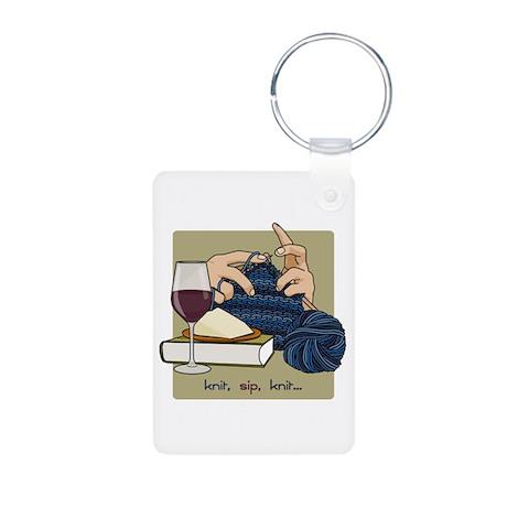 Knit Sip Knit Keychain