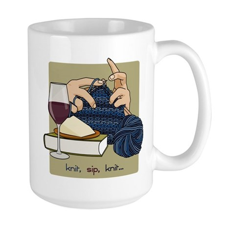 Knit Sip Knit Large Mug