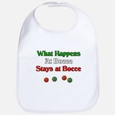 What happens at bocce stays at bocce. Bib