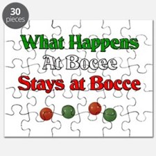 What happens at bocce stays at bocce. Puzzle