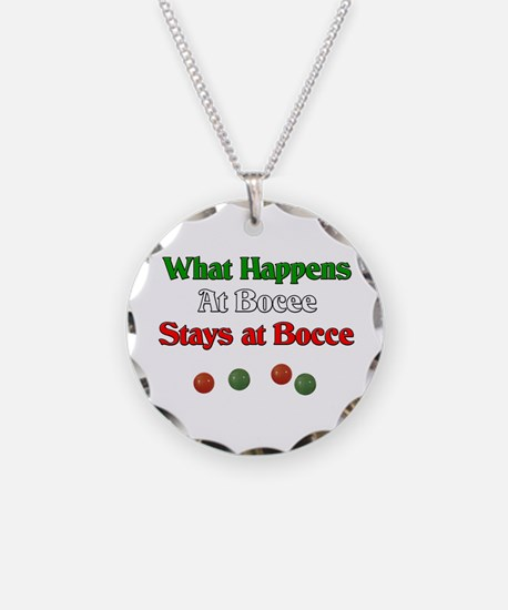 What happens at bocce stays at bocce. Necklace