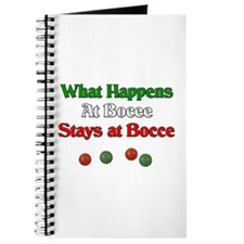 What happens at bocce stays at bocce. Journal