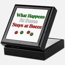 What happens at bocce stays at bocce. Keepsake Box