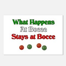 What happens at bocce stays at bocce. Postcards (P
