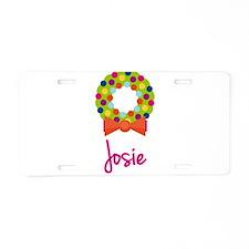 Christmas Wreath Josie Aluminum License Plate