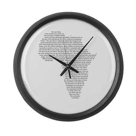 Real Africa - Large Wall Clock