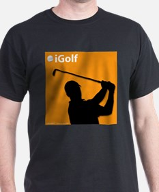Official Orange iGolf Black T-Shirt