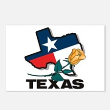 Texas Rose Postcards (Package of 8)