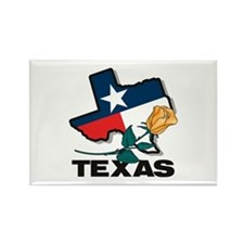 Texas Rose Rectangle Magnet (10 pack)