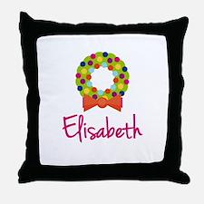 Christmas Wreath Elisabeth Throw Pillow