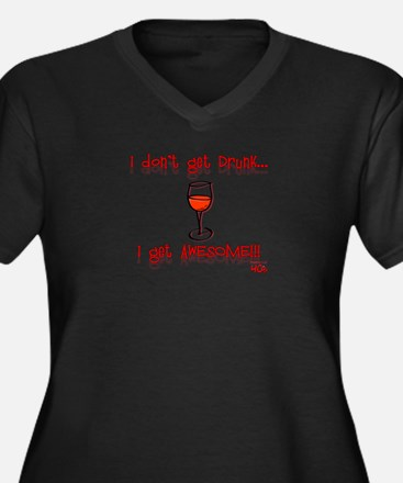 Women's I Get Awesome!!! Women's Plus Size V-Neck