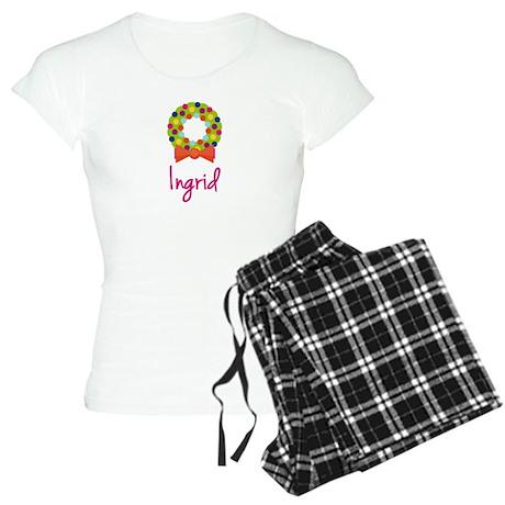 Christmas Wreath Ingrid Women's Light Pajamas