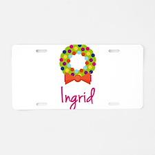 Christmas Wreath Ingrid Aluminum License Plate