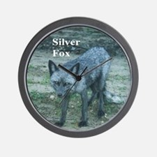 Silver Fox over 50 Wall Clock