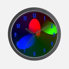 Red Green Blue RGB Wall Clock