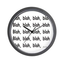 Blah, Blah, Blah Wall Clock