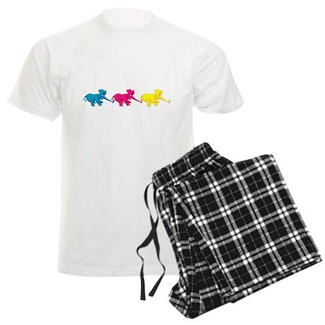 Three Elephant Tug of War Men's Light Pajamas