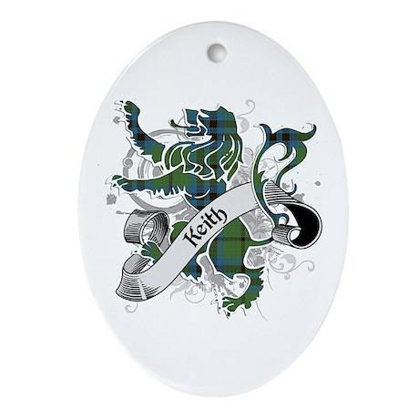 Keith Tartan Lion Ornament (Oval)