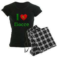 I Love Bocce Pajamas
