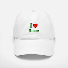 I Love Bocce Baseball Baseball Cap