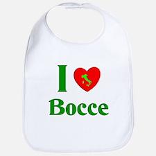 I Love Bocce Bib