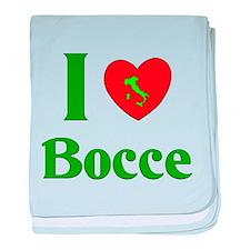 I Love Bocce baby blanket