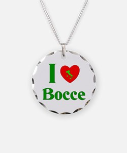I Love Bocce Necklace