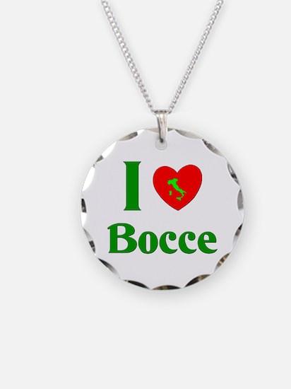 I Love Bocce Necklace